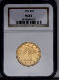 Liberty Eagles: , 1895 $10 MS62 NGC. NGC Census: (2782/1370). PCGS Population (1586/359). Mintage: 567,700. Numismedia Wsl. Price: $485. (#87...