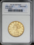 Liberty Eagles: , 1896-S $10 --Cleaned-- ANACS. AU53 Details. NGC Census: (50/210). PCGS Population (16/130). Mintage: 123,750. Numismedia Wsl...