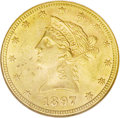 Liberty Eagles: , 1897 $10 MS62 NGC. NGC Census: (2209/929). PCGS Population (1340/424). Mintage: 1,000,159. Numismedia Wsl. Price: $420. (#8...