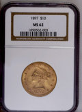 Liberty Eagles: , 1897 $10 MS62 NGC. NGC Census: (2220/931). PCGS Population (1350/424). Mintage: 1,000,159. Numismedia Wsl. Price: $485. (#8...