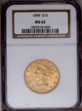 Liberty Eagles: , 1898 $10 MS62 NGC. NGC Census: (680/291). PCGS Population (448/196). Mintage: 812,197. Numismedia Wsl. Price: $420. (#8740)...