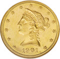 Liberty Eagles: , 1901-S $10 MS63 NGC. NGC Census: (3314/3918). PCGS Population (3876/3182). Mintage: 2,812,750. Numismedia Wsl. Price: $1,04...