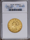 1906-O $10 --Cleaned--ANACS. AU58 Details. NGC Census: (61/175). PCGS Population (34/180). Mintage: 86,895. Numismedia W...