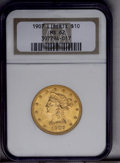Liberty Eagles: , 1907 $10 MS62 NGC. NGC Census: (6162/4589). PCGS Population (5382/2935). Mintage: 1,203,973. Numismedia Wsl. Price: $485. (...