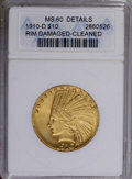 1910-D $10 --Cleaned, Rim Damaged--ANACS. MS60 Details. NGC Census: (171/5397). PCGS Population (109/4452). Mintage: 2,3...