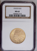 1910-D $10 MS62 NGC. NGC Census: (2213/1824). PCGS Population (2044/1853). Mintage: 2,356,640. Numismedia Wsl. Price: $9...