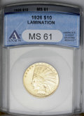 1926 $10 --Lamination--MS61 ANACS. NGC Census: (2489/16216). PCGS Population (2352/15962). Mintage: 1,014,000. Numismedi...