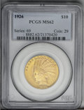 Indian Eagles: , 1926 $10 MS62 PCGS. PCGS Population (7787/8190). NGC Census: (6637/9600). Mintage: 1,014,000. Numismedia Wsl. Price: $800. ...