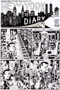 "Original Comic Art:Panel Pages, Julie Doucet Dirty Plotte (Purity Plotte) #10 ""My New YorkDiary Part One"" Title Page 3 Original Art (Drawn and Qu..."