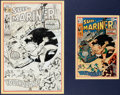 Original Comic Art:Covers, Sal Buscema and Mike Esposito Sub-Mariner #28 Cover OriginalArt (Marvel, 1970)....