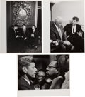 Political:Small Miscellaneous (1896-present), John F. Kennedy: Three Jacques Lowe Photographs.... (Total: 3 Items)