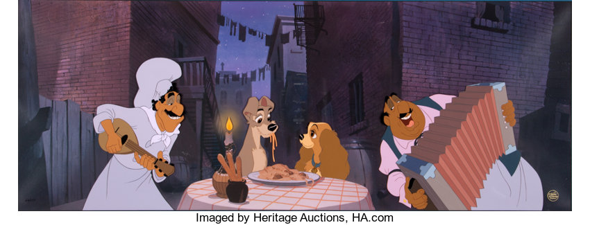 Lady And The Tramp Prelude To A Kiss Limited Edition Pan Cel Lot 95274 Heritage Auctions