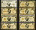 Fr. 2400 $10 1928 Gold Certificates Seventeen Examples Hood River, OR - $10 1929 Ty. 1 The First NB<