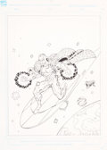 Original Comic Art:Covers, Ron Lim Wizard #5 Silver Surfer Cover Original Art (Wizard,1992)....