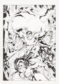 Original Comic Art:Covers, Howard Porter and John Dell Wizard JLA Illustration OriginalArt (undated)....