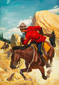 Original Comic Art:Covers, King of the Royal Mounted #10 Cover Original Art (Dell,1953).... (Total: 2 Items)