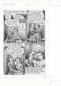 Original Comic Art:Panel Pages, Robert Crumb Kafka for Beginners Page 131 Original Art(Totem Books, 1993)....