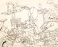 Animation Art:Production Drawing, Mickey's Amateurs Goofy Production Layout Drawing (WaltDisney, 1937)....
