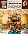 Original Comic Art:Covers, Al Jaffee MAD #143 Fold-In Back Cover Original Art (EC,1971)....