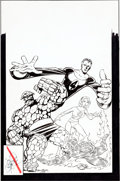 Original Comic Art:Covers, John Byrne Fantastic Four Annual #17 Cover Original Art(Marvel, 1983)....