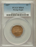 Flying Eagle Cents: , 1857 1C MS64 PCGS. PCGS Population (962/203). NGC Census:(896/233). Mintage: 17,450,000. Numismedia Wsl. Price forproblem...