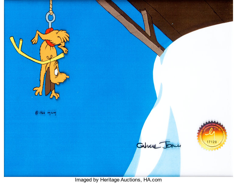How The Grinch Stole Christmas 1966 Max.Dr Seuss How The Grinch Stole Christmas Max Production Cel