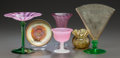 Art Glass:Steuben, SIX AMERICAN ART GLASS PIECES MAINLY BY STEUBEN . Early 20thcentury, Stamped to sherbet and pink vase: STEUBEN; Engraved to...(Total: 6 Items)