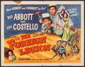 """Movie Posters:Comedy, Abbott and Costello in the Foreign Legion (Universal International,1950). Half Sheet (22"""" X 28"""") Style A. Comedy.. ..."""