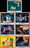 """Movie Posters:Animation, Bambi (Buena Vista, R-1975). Title Lobby Card & Lobby Cards (6) (11"""" X 14""""). Animation.. ... (Total: 7 Items)"""