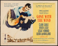 """Gone with the Wind (MGM, R-1961). Half Sheet (22"""" X 28"""") Style A. Academy Award Winners"""