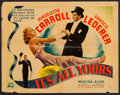"""Movie Posters:Comedy, It's All Yours (Columbia, 1937). Half Sheet (22"""" X 28"""") Style A. Comedy.. ..."""