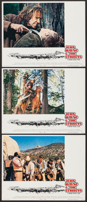 """The Cowboys & Others Lot (Warner Brothers, 1972). Lobby Cards (3) & Lobby Card Set of 8 (11"""" X 14&q..."""