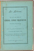 Books:Pamphlets & Tracts, Henry Purdon. An Address, on the Life and Times of GeneralGeorge Washington. Delivered April 30, 1889 by Rev.Hen...