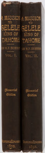 Books:Biography & Memoir, Sir Richard F. Burton. A Mission to Gelele, King of Dahome.London: Tylston and Edwards, 1893. Memorial edition. Two... (Total:2 Items)