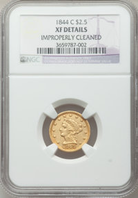 1844-C $2 1/2 -- Improperly Cleaned -- NGC Details. XF. NGC Census: (7/94). PCGS Population: (16/86). CDN: $2,400 Whsle...