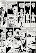 "Original Comic Art:Panel Pages, Frank Miller and Klaus Janson Daredevil #177 ""In theKingpin's Clutches"" Kingpin Page 10 Original Art (Marvel,..."