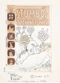 Original Comic Art:Covers, Warren Kremer (attributed) Stumbo Tinytown #13 CoverOriginal Art (Harvey, 1966)....