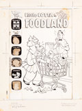 Original Comic Art:Covers, Warren Kremer Little Lotta Foodland #6 Cover Original Art(Harvey, 1964)....