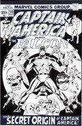Original Comic Art:Covers, Sal Buscema Captain America #155 Cover Recreation OriginalArt (2002)....