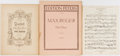 Books:Music & Sheet Music, [Music]. Max Reger. Three Scores, including one duet and twoquartets. Publisher's wrappers for the duet; quartets are each ...(Total: 3 Items)