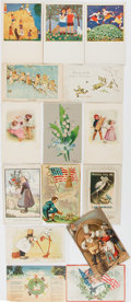 Miscellaneous:Postcards, [Postcards]. Collection of Approximately 15 Postcards FeaturingVarious illustrations. All measure about 5.5 x 3.5 inches. S...
