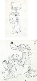 Animation Art:Production Drawing, One Ham's Family Junior Pig and Wolf Production DrawingsGroup (MGM, 1943).... (Total: 2 Items)