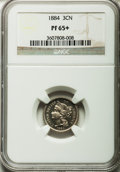 Proof Three Cent Nickels: , 1884 3CN PR65+ NGC. NGC Census: (365/262). PCGS Population(370/224). Mintage: 3,942. Numismedia Wsl. Price for problem fre...