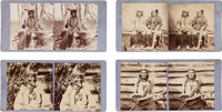 Stereoviews: Four Different Views of Indian Chiefs