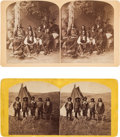 Photography:Stereo Cards, Stereoviews: Two Views of Indian Chiefs.... (Total: 2 )