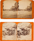 Photography:Stereo Cards, Los Angeles and Anaheim Street Scenes: Two Stereoviews by E. H. Anthony & Co.... (Total: 2 Items)