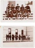Photography:Cabinet Photos, Cabinet Cards: Indian School Baseball Team & Fire HoseBrigade.... (Total: 2 )