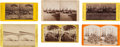 Photography:Stereo Cards, Docked Steamers: Six Stereoview Scenes from New Orleans and St. Louis.... (Total: 6 Items)