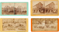 Photography:Stereo Cards, California Scenes: Four Stereoviews of Napa, Sonora, and Others.... (Total: 4 Items)