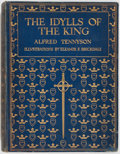 Books:Literature Pre-1900, Alfred Tennyson. The Idylls of the King. London, New York,Toronto: Hodder & Stoughton, [n.d.]. Quarto. Publisher's ...